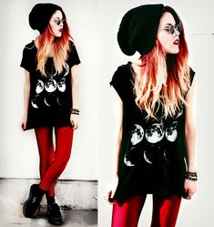 Dark Side Of Mind goth  ombre red hair