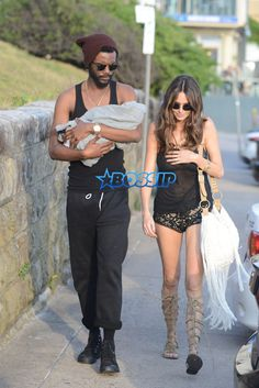 Nicole Trunfio, Gary Clark JR and their baby are taking a romantic stroll in…