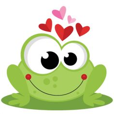Frog in Love SVG scrapbook cut file cute clipart files for silhouette cricut pazzles free svgs free svg cuts cute cut files Funny Frogs, Cute Frogs, Frog Drawing, Frog Art, Cute Clipart, Cute Images, Cute Illustration, Silhouette Design, Easy Drawings