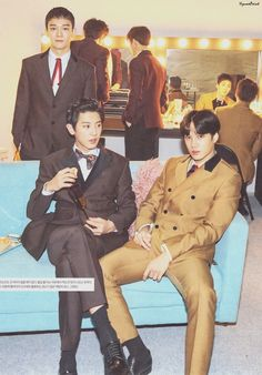 Chanyeol looks like a young ceo Baekhyun Chanyeol, Exo Mitglieder, Park Chanyeol, Exo Kai, Exo Ot12, Kaisoo, Chanbaek, K Pop, Luhan And Kris
