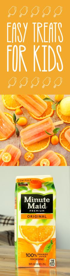 Whipped Up Recipes | If you're a parent looking for fun, tasty treats to whip up for the family, look no further. These easy snacks made with Minute Maid juices and orange juice are sure to become your go-tos. Find these fresh features as well as breakfast and drink recipes at the Minute Maid blog.