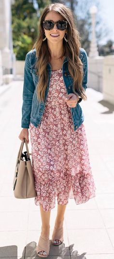 86958c50391 40 Amazing Outfit Ideas To Inspire Yourself. Denim Jacket With DressJacket  ...