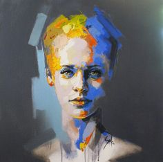 by Solly Smook Abstract Portrait, Portrait Art, Portrait Paintings, Art Paintings, Female Portrait, Figure Painting, Painting & Drawing, Painting Abstract, Acrylic Paintings