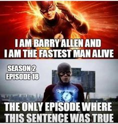 Jk, Zoom and Reverse Flash are faster