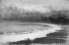 Norman Ackroyd . Rhossili Beach, Gower . Wales and the Marshes .  2002 • 15x23 cm
