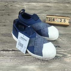 6f4b357ae03043 Adidas Slip On Kids Sneakers Denim Blue Half Annual Sale Price Cheap To Buy  YpRXF