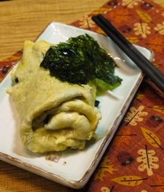 Japanese omelette recipe - Egg Roll with Seaweed and Cheese
