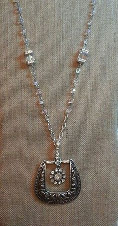 Belt Buckle Necklace...... This is simple, yet very pretty!  My kind of style.