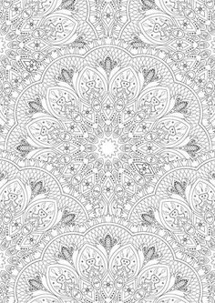 Free Printable Adult Colouring Page. Mandala Design