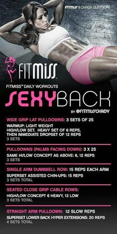 Sexy Back Workout by fitmiss