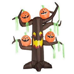 8 Haunted Tree with JackOLantern Pumpkins Halloween LED Lighted Outdoor Airblown Inflatable Yard Decoration * Check out the image by visiting the link. (This is an affiliate link) #InflatableHalloweenDecor