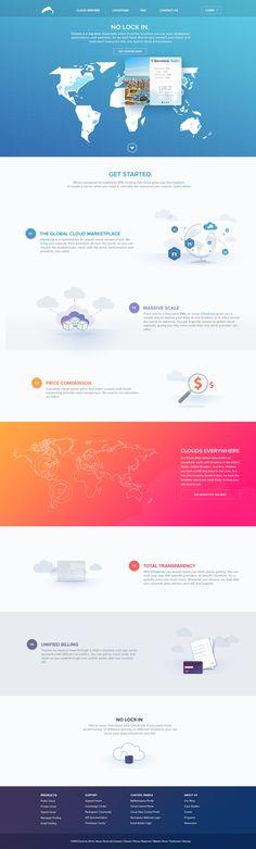 Cloud.net by Pedro Lalli, via Behance