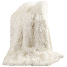 "Mongolian Lamb Faux Fur Throw Color: Gray, Size: 58"" W x 84"" L ($179) ❤ liked on Polyvore featuring home, bed & bath, bedding, blankets, plush throw blanket, faux fur throw blanket, faux fur blanket, grey throw and winter blanket"