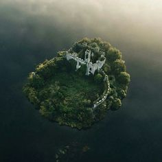 At the Castle Island in Lough Key, Ireland.
