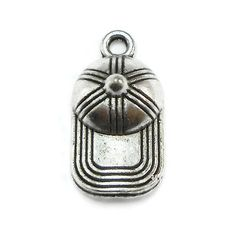 8 Baseball Cap Charms silver tone hat S295 by OliviaMadisonCompany (Craft Supplies & Tools, Jewelry & Beading Supplies, Charms, metal charms, charm bracelet, olivia madison, tibetan silver charm, silver charm, silver metal charm, baseball cap charm, baseball hat charm, cap charm, hat charm, baseball charm, sports charm, silver baseball cap)