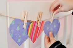 Paper Hearts - Great for practicing cutting skills and sorting too!