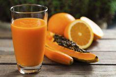 Jugo de naranja, papaya y amaranto