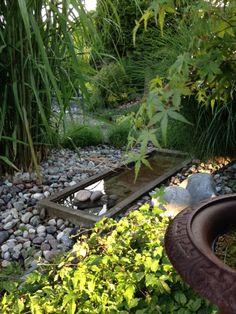 Tranquil mix of foliage and water Garden Deco, Garden Yard Ideas, Balcony Garden, Lawn And Garden, Outdoor Water Features, Water Features In The Garden, Garden Pond Design, Landscape Design, Small Japanese Garden