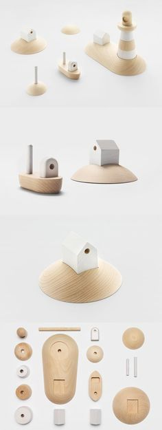 'Archipelago': wooden toy set by Permafrost, originally presented during the London Design Festival in 2013