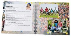 Afscheidsboek groep 8: ieder kind vult zijn eigen pagina met tekst en foto's. Ook super als afscheidscadeau juf of meester. Al vanaf €14,95!