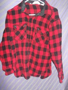 Vintage Buffalo Check Wool Blend Plaid Shirt or by VelvetSabbath, $21.00