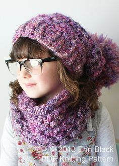 Ravelry: Chunky Slouchy Sophie Hat & Cowl pattern by Erin Black