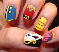 Beauty & the Beast nails!