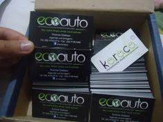 Arte e impressão de cartão de visita EcoAuto