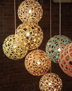 off David Trubridge lighting in May - contact us to place your orderThe Coral Pendant Light from David Trubridge is based on one of the geometric polyhedra that Bamboo Pendant Light, Bamboo Light, Lights Fantastic, Lighting Design, Lighting Sale, Pendant Lighting, Pendant Lamps, Pendants, How To Memorize Things