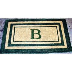 "Geo Crafts Monogram Doormat Size: 30"" x 48"", Letter: W"