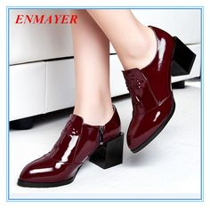 ENAYER 2014 NEW ankle boots arrivals fashion high heels boots for women hot sale size 34-42 free shipping thick heels $149.50