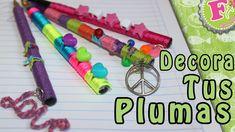 Decora tus plumas/lapices Super ORIGINAL! (4 ideas)