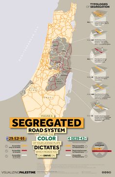 Israel - Palestine: Imagine a segregated road system where color of your plate dictates which roads you can drive on