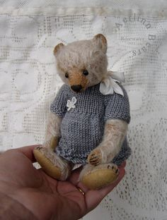 Rosewater Collectible  One Of a Kind Mohair Artist by aerlinnbears