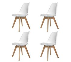 SET 4 SEDIE NEW TOWER WOOD BIANCHE