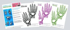 Halloween costume accessories: Print a paper skeleton hand!