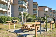 Outdoor BBQ amenity.  Myrtle Beach condos for sale.  #aplaceatthebeach http://www.myrtlebeachrealestate.com/a-place-at-the-beach.php