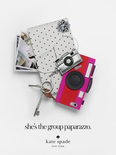 """featuring the camera case, camera keychain, and the """"small album, big pictures"""" photo album. #getgifted"""