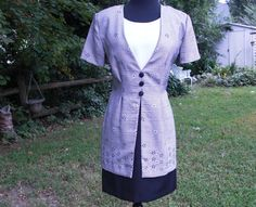 80s Dress,  Vintage Dress,  Hounds Tooth Dres,s black and white dress, by #gottagovintage1
