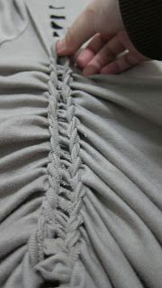 T- Shirt Braiding DIY- awesome.. finished product looks beautiful...perfect for all those massive, boring T shirts