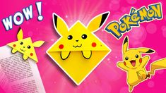 How to do make easy bookmark corner for Pikachu?!?   A must have paper bookmark corner for all Pokemon fans:  learn how to make Pikachu bookmark corner in easy steps! Don't forget to subscribe for easy paper crafts for kids. All Pokemon, Pokemon Fan, Pokemon Bookmark, Paper Bookmarks, Paper Crafts For Kids, Make It Simple, Don't Forget, Pikachu, Fans