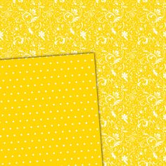 Digital Paper Pack Damask & Swirls Bright Yellow - Gidget Designs  - 1