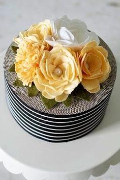 Petal and Print wedding cake