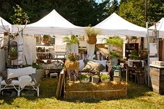 Outdoor market...booth inspiration