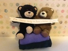 """The perfect little gift for any teddy bear lover! I gave this to my mom. The bears hold a banner with the message, """"I'm beary lucky to have a mother like you!"""""""