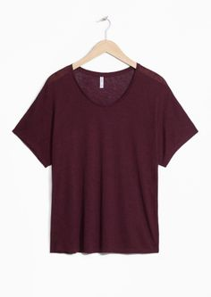 & Other Stories image 1 of Wool-Blend Tee in Burgundy