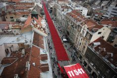 Bosnian war, 20 years later, marked in Sarajevo with 11,541 red chairs: one for each dead