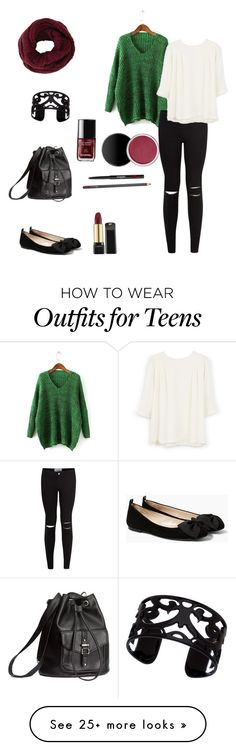 """Untitled #1"" by elin-g on Polyvore featuring MANGO, H&M, Lisa August and BCBGMAXAZRIA"
