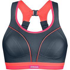 Wiggle | Shock Absorber Ultimate Run Bra (Grey/Coral) | Sports Bras & Underwear