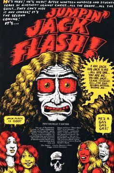♫♪♪ ChrisGoesRock's Music Site ♫♪♪ — Jumpin'Jack Flash, by Robert Crumb Robert Crumb, Underground Comics, Psychedelic Art, Fritz The Cat, Jumpin' Jack Flash, Alternative Comics, Music Sites, Pin Up, Caricature Artist